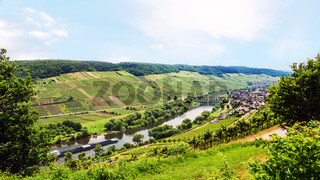 panorama of Mosel river in Cochem - Zell region