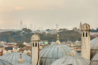 View of dome of the mosque, Istanbul, Turkey