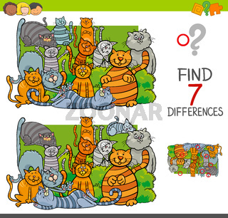 find differences with cats animal characters