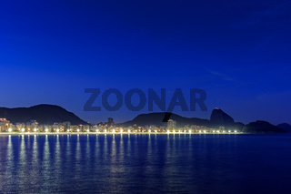 Copacabana at night