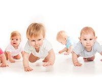 Infants crawling race