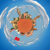 Marrakech tiny planet