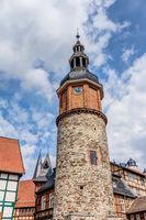 Altes Postamt und in Saigerturm in Stolberg im Harz