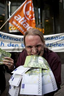 Bankenaktionstag von attac