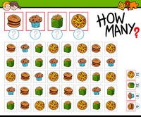how many food objects cartoon game