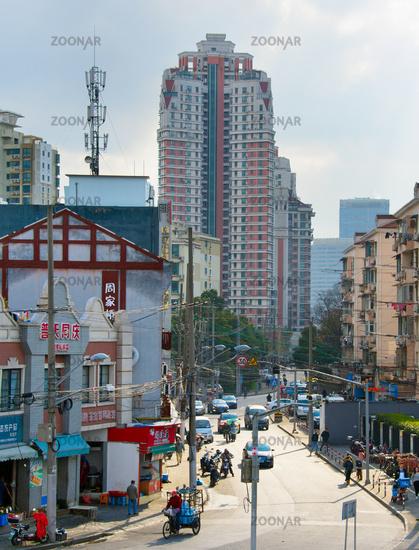 Shanghai street view, China