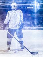 hockey player portrait