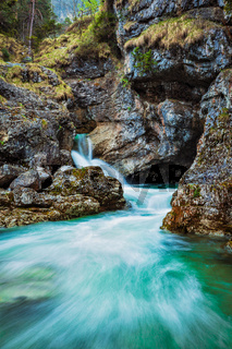 Kuhfluchtwasserfall water fall. Germany