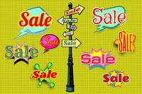 Sales background pole sign
