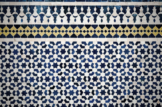 moroccan vintage tile background