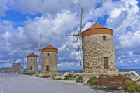 Rhodes Port Windmills, Greece