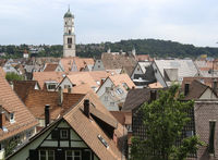 Blick auf die Altstadt von Biberach an der Riss