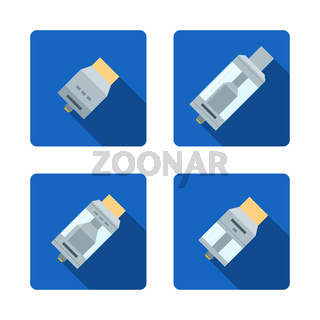 vector vaporizer atomizers types icons