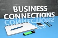 Business Connections text concept