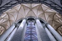 Kathedrale Notre-Dame de Coutances, Normandie, Frankreich