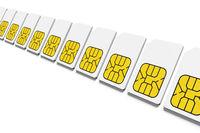 sim card row