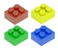 four colored child blocks