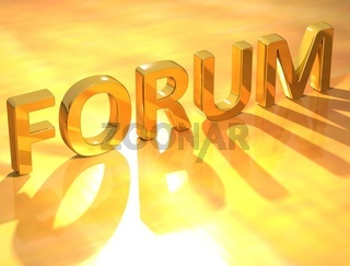 Forum Gold Text
