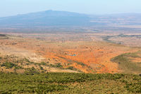 View of the Rift Valley landscape in Kenya