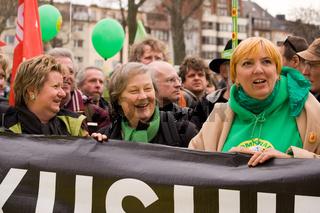 Grüne Politiker bei Anti-Atom Demo