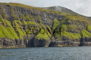 Wild and rocky coast of Faroe Islands, Denmark