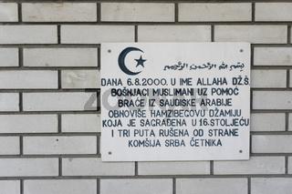 Moschee in Sanski Most, Bosnien