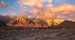 Alabama Hills Sunset Sierra Nevada Range California Mountains