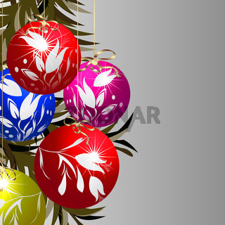 Shining Christmas baubles