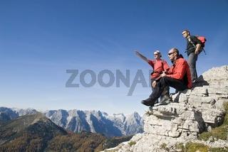 Ausblick auf das Tote Gebirge, Oberösterreich, Österreich