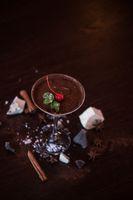 Ice cream chocolate dessert