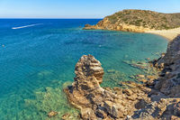 Beautiful little bay with clear turquoise water on Crete, Greece