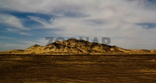 Mountain landscape in Black Desert, Bahariya, Egypt