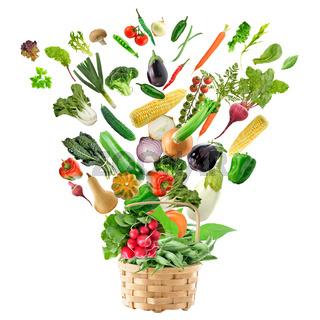 Basket of Healthy Food