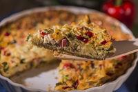 Quiche mit Paprika, Tomaten und  Zuccini