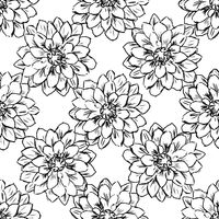 Hand draw seamless floral pattern.