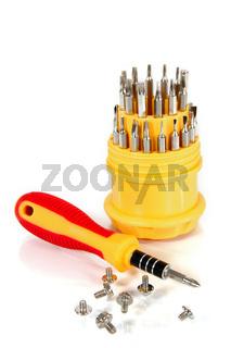 Set of screw-drivers