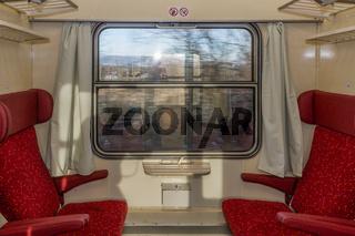 Unterwegs mit einem Schnellzug der Tschechischen Bahn