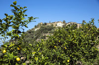 Teilansicht von Deia' das Künstlerdorf im Tramuntanagebirge, Mallorca,Spanien,Europa