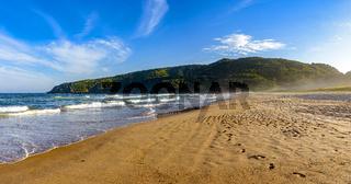 Waves, sand and sky on Tucuns beach