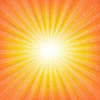 Sunburst Background With Stars
