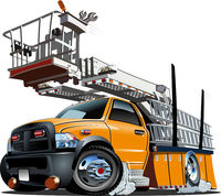 Cartoon Platform Lift Truck