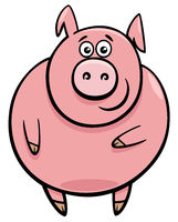 cute pig character cartoon illustration