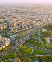 Iran road overpass. Tehran