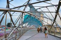 Inside Helix bridge in Singapore