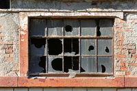 zerbrochene Fensterscheiben