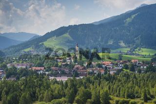 Pfarrkirche St. Nikolaus in Pfronten, Oberbayern, Bayern, Deutschland, Europa