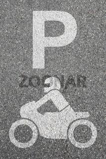 Parkplatz Motorrad parken Motorradfahrer Straße Verkehr