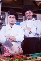 Portrait of two chefs