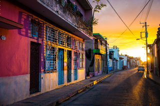 CAMAGUEY, CUBA - Street view of city centre