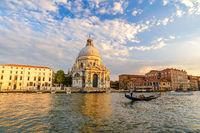 Venice Grand Canal when sunset, Venice (Venezia), Italy